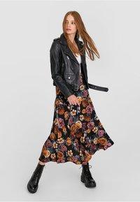 Stradivarius - Leather jacket - black - 1