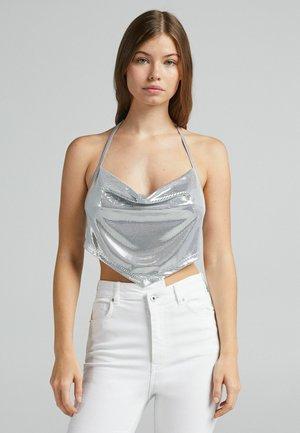 Top - silver-coloured