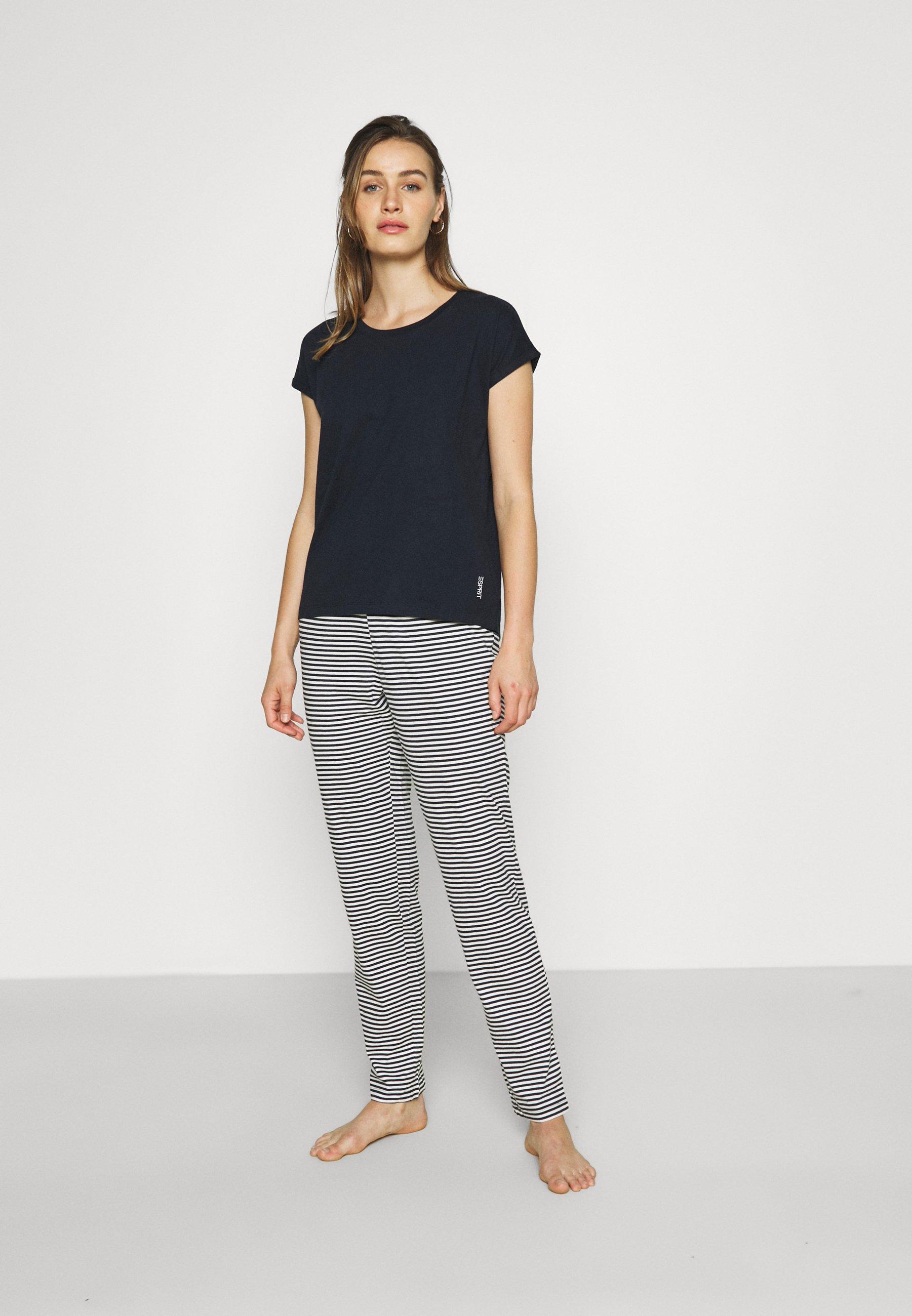 Damen EVERYDAY SHORTSLEEVE STRIPED PANTS SET - Pyjama