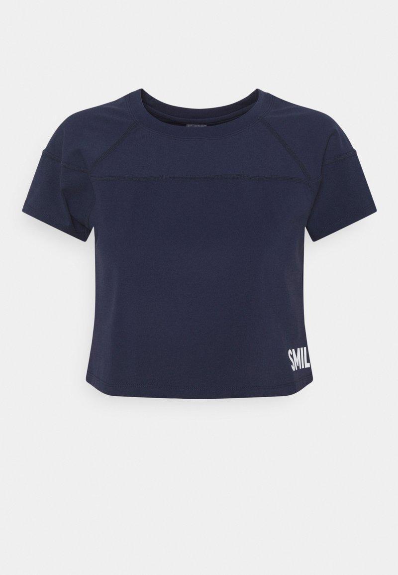 Smilodox - CROPPED  - Print T-shirt - blau