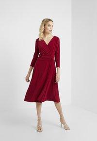 Lauren Ralph Lauren - ZANAHARY - Jersey dress - vibrant garnet - 1