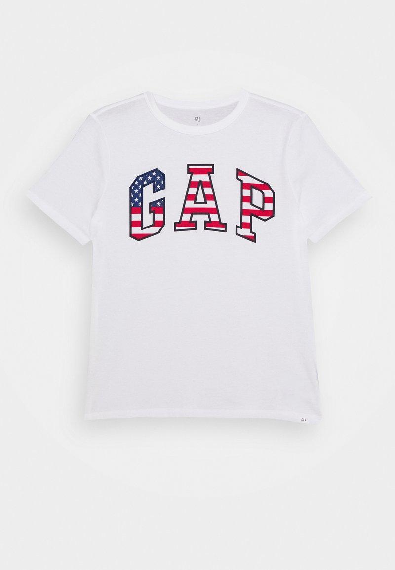 GAP - BOY USA FLAG TEE - T-shirt z nadrukiem - fresh white