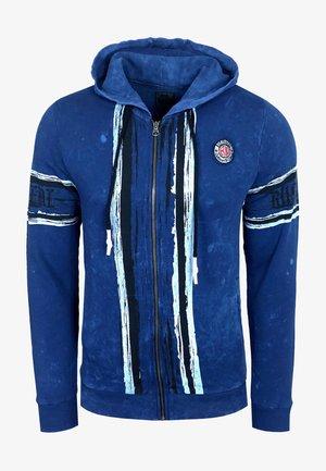 Zip-up hoodie - sax