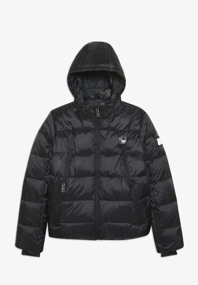 BASIC SHINY BOYS SKI JACKET - Laskettelutakki - black