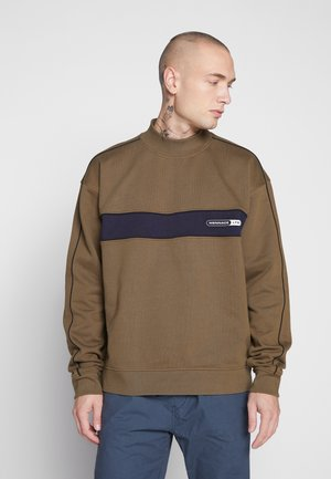 BRANDED FUNNEL NECK PANEL  - Sudadera - khaki