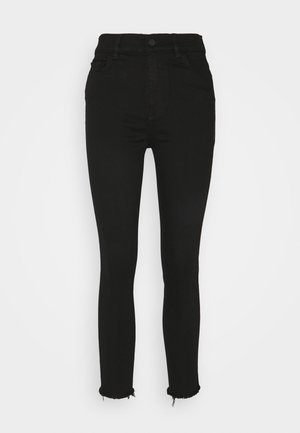 FARROW CROPPED HIGH RISE SKINNY - Jeans Skinny Fit - black