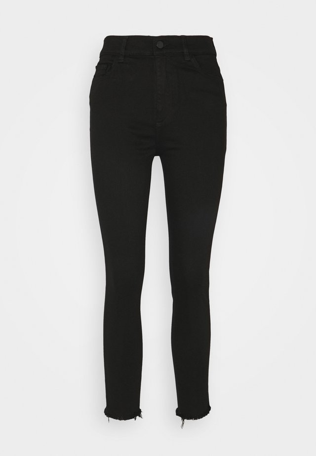 FARROW CROPPED HIGH RISE SKINNY - Vaqueros pitillo - black