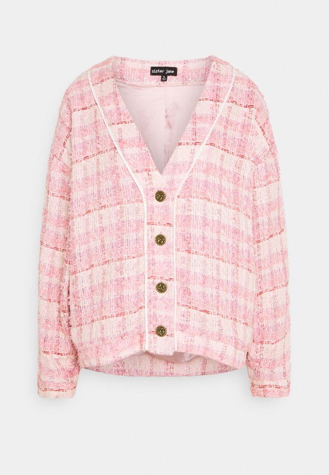 PROM TWEED CARDIGAN - Cardigan - pink