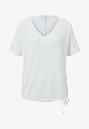 MIT V-AUSSCHNITT - Print T-shirt - off white