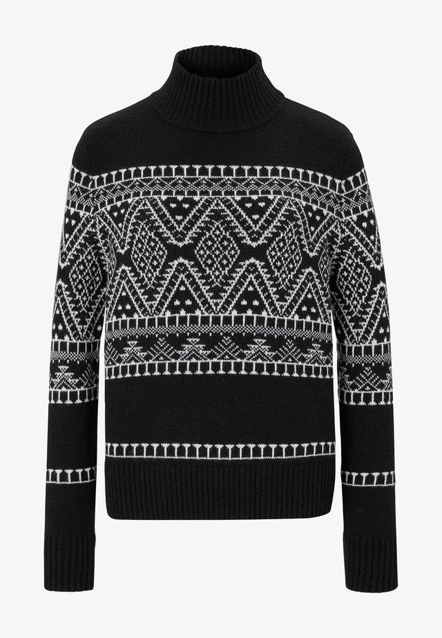 Pullover - schwarz/weiß
