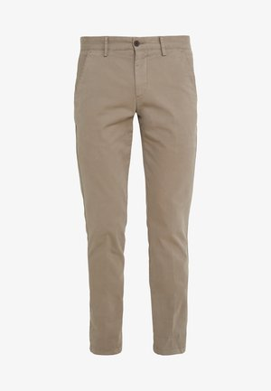 DYE TEXTURE - Trousers - taupe