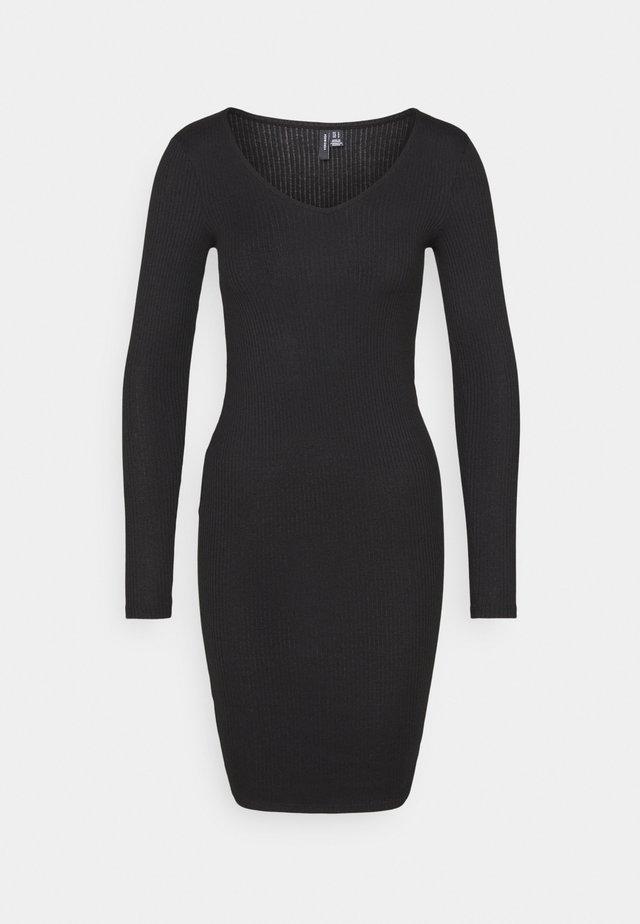 VMPOLLY V-NECK DRESS - Jersey dress - black