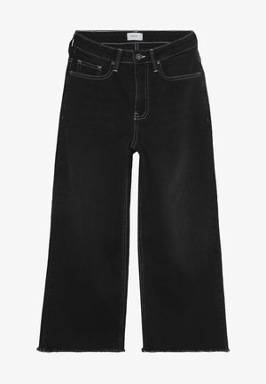 ELLIE WIDE LEG CROPED - Jeans a zampa - clam black