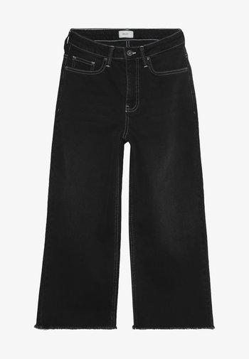 ELLIE WIDE LEG CROPED - Flared Jeans - clam black
