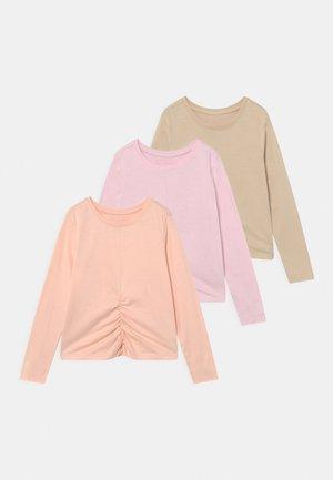 3 PACK - Long sleeved top - purple/light pink/beige