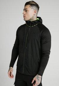 SIKSILK - ADAPT CRUSHED ZIP THROUGH - Summer jacket - black - 0