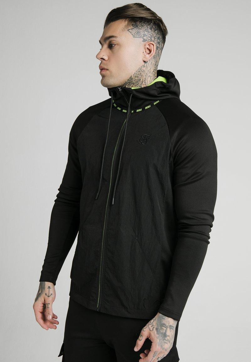 SIKSILK - ADAPT CRUSHED ZIP THROUGH - Summer jacket - black