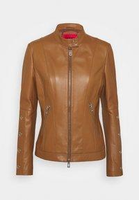 HUGO - LISAKA - Leather jacket - rust/copper - 3