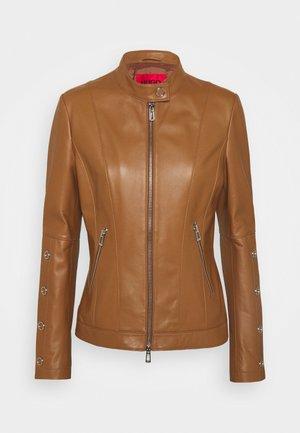 LISAKA - Leather jacket - rust/copper
