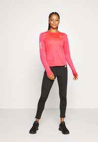 adidas Performance - SPORTS RUNNING LONG SLEEVE - Sports shirt - signal pink - 1