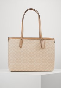 Coach - SIGNATURE CENTRAL TOTE WITH ZIP - Handbag - sand taupe - 0