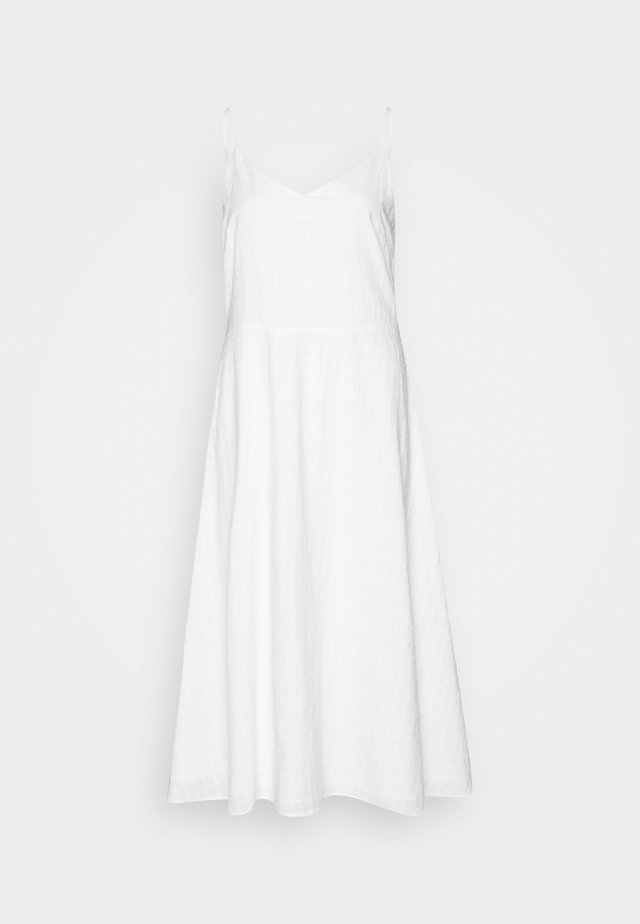 CAMI MIDI EYELET - Day dress - optic white