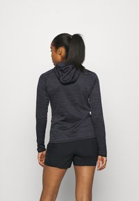 ODLO - HOODY MIDLAYER MILLENNIUM ELEMENT - Long sleeved top - black - 2