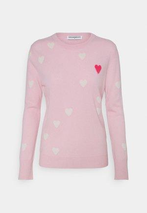 HEART  - Svetr - pink/white