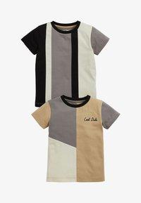 Next - 2 PACK - Print T-shirt - black - 0