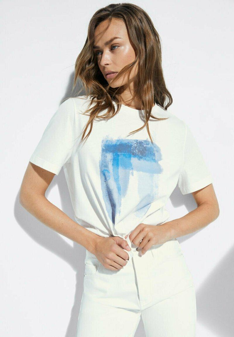 Massimo Dutti - T-shirt imprimé - white