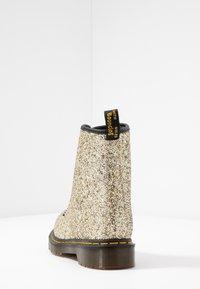 Dr. Martens - 1460 FARRAH - Bottines à lacets - gold chunky glitter - 5