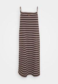 Nike Sportswear - FEMME DRESS MAXI - Day dress - baroque brown/metallic gold - 0