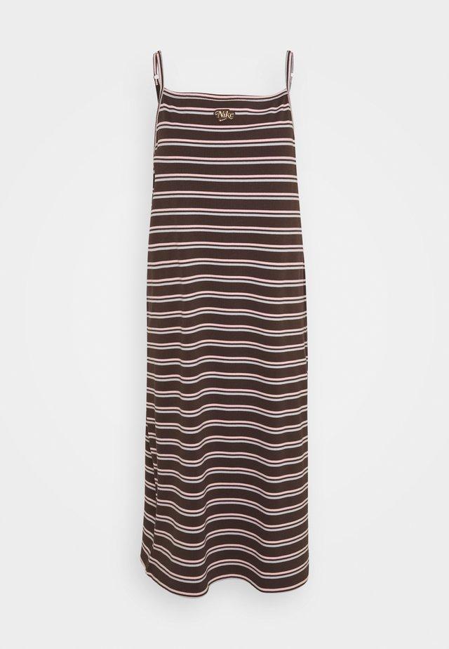 FEMME DRESS MAXI - Korte jurk - baroque brown/metallic gold