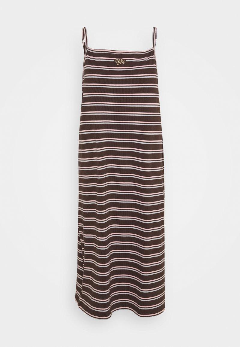 Nike Sportswear - FEMME DRESS MAXI - Day dress - baroque brown/metallic gold