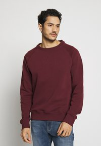 Pier One - 2 PACK - Sweatshirt - dark blue/bordeaux - 2