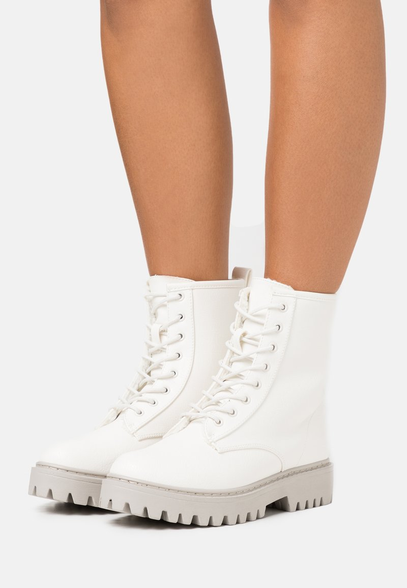 Even&Odd - Platform ankle boots - offwhite