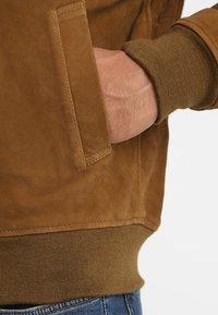 Schott - OFFICIER - Leather jacket - rust - 4