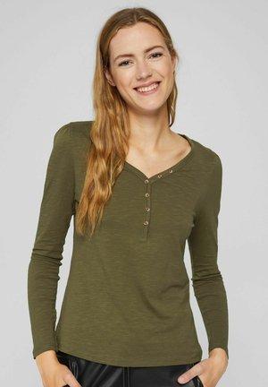 HENLEY - T-shirt à manches longues - dark khaki