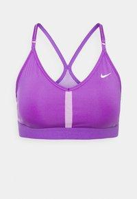 INDY BRA V NECK - Reggiseno sportivo con sostegno leggero - wild berry/violet shock/white