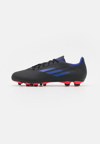 X SPEEDFLOW.4 FXG - Fotbollsskor fasta dobbar - core black/sonic ink/solar yellow