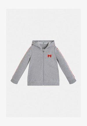 LOGO REISSVERSCHLUSS - Zip-up hoodie - hellgrau