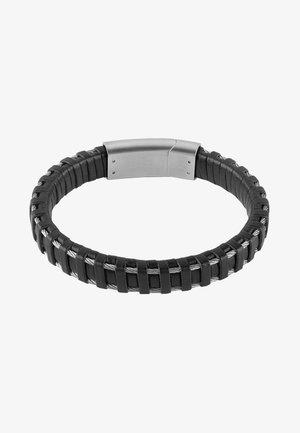 MAN IDENTITY - Bracelet - silver, black