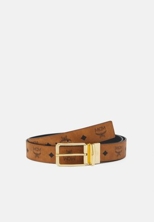 TONGUE BUCKLE REVERSIBLE BELT UNISEX - Belt - cognac