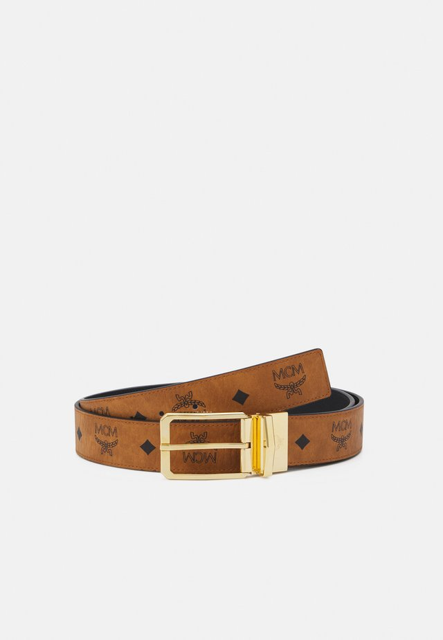 TONGUE BUCKLE REVERSIBLE BELT UNISEX - Cintura - cognac
