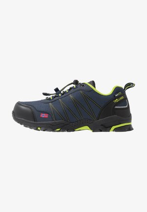 KIDS TROLLTUNGA LOW - Obuwie hikingowe - navy/viper green