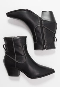 Glamorous Wide Fit - Cowboy/biker ankle boot - black - 3