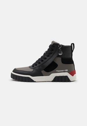 S-RUA MID SK - High-top trainers - black/grey