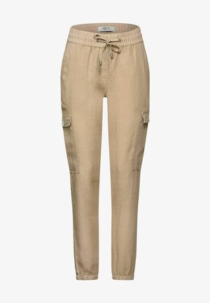 LOOSE FIT - Cargo trousers - beige