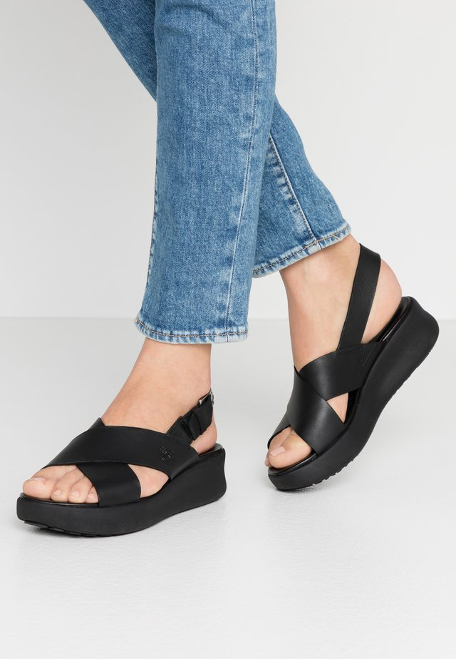 LOS ANGELES WIND SLINGBAC - Plateausandalette - black