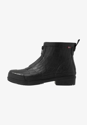 GYDA CROCO ZIPPER - Wellies - black